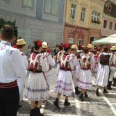 Traditional Romanian costume in Brasov on our visit